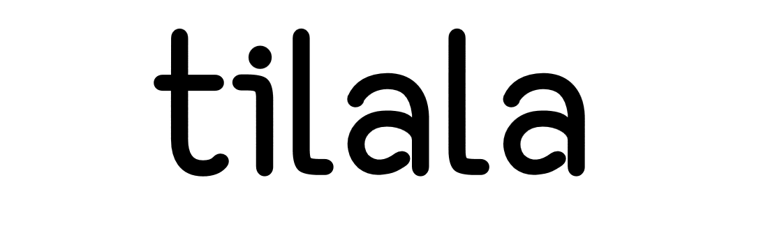 tilala logo full black on white