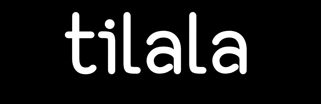 tilala logo full white on black